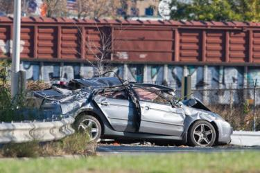 Wiktoria Filc, a 19-year-old passenger in Joseph Auteri's 2005 Acura, was fatally injured when he crashed into the guard rail on Belt Parkway in Bay Ridge, Brooklyn, early Sunday Nov. 8, 2015. THEODORE PARISIENNE/FOR NEW YORK DAILY NEWS