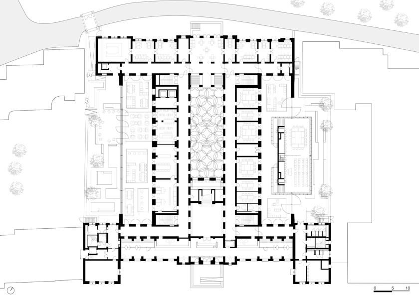 B30. Plano planta baja. Diseño: ©Kaan Arquitecten