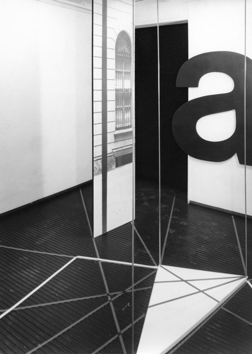 Amalia Del Ponte, Ipotesi di Grande Tropo (installation view), 1968, progetto site specific per il Salone Annunciata