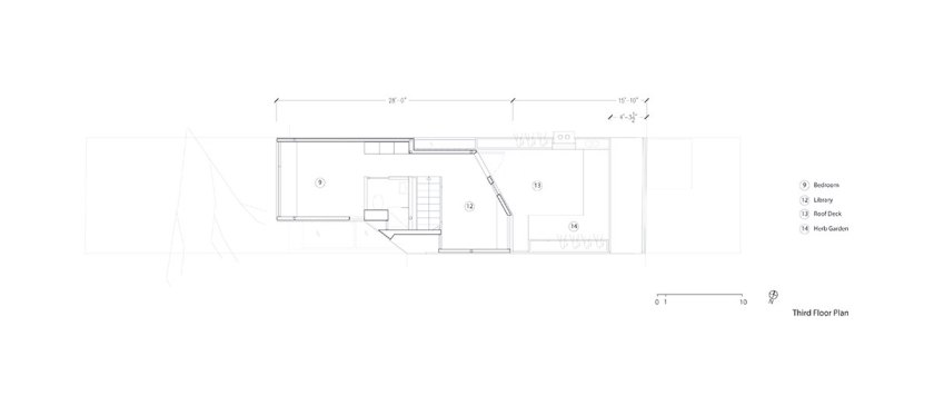 Second floor plan. Courtesy of Aleph-Bau