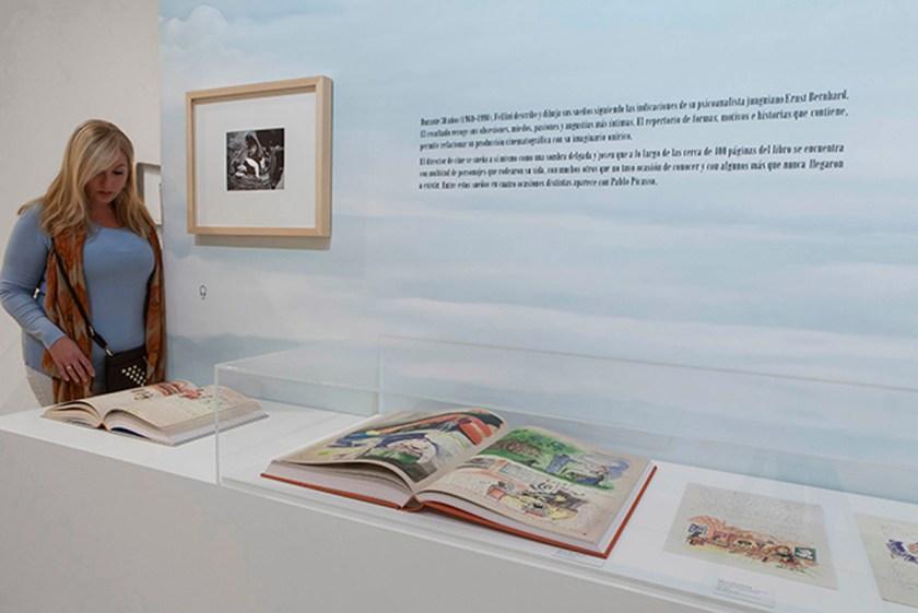 Una visitante contempla el Libro de los sueños Foto: Jesús Domínguez © Museo Picasso Málaga