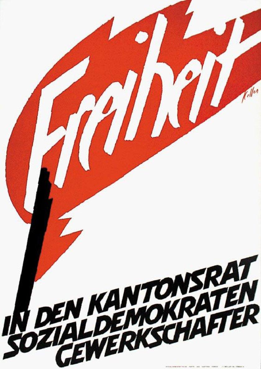 "© Ernst Keller ""Libertad - En el Consejo Cantonal - Social Demócratas - Sindicalistas"" - 1959"