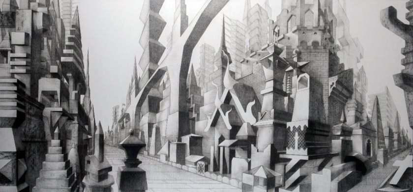 Glexis Novoa, Wat, 2013, graphite on canvas, Courtesy of the artist and David Castillo Gallery