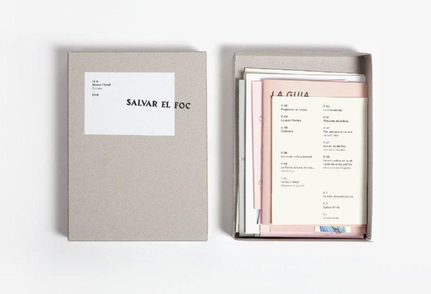 Título: Salvar el foc Cliente: Falla Mossén Sorell — Corona Diseño: Ibán Ramón Estudio: Ibán Ramón