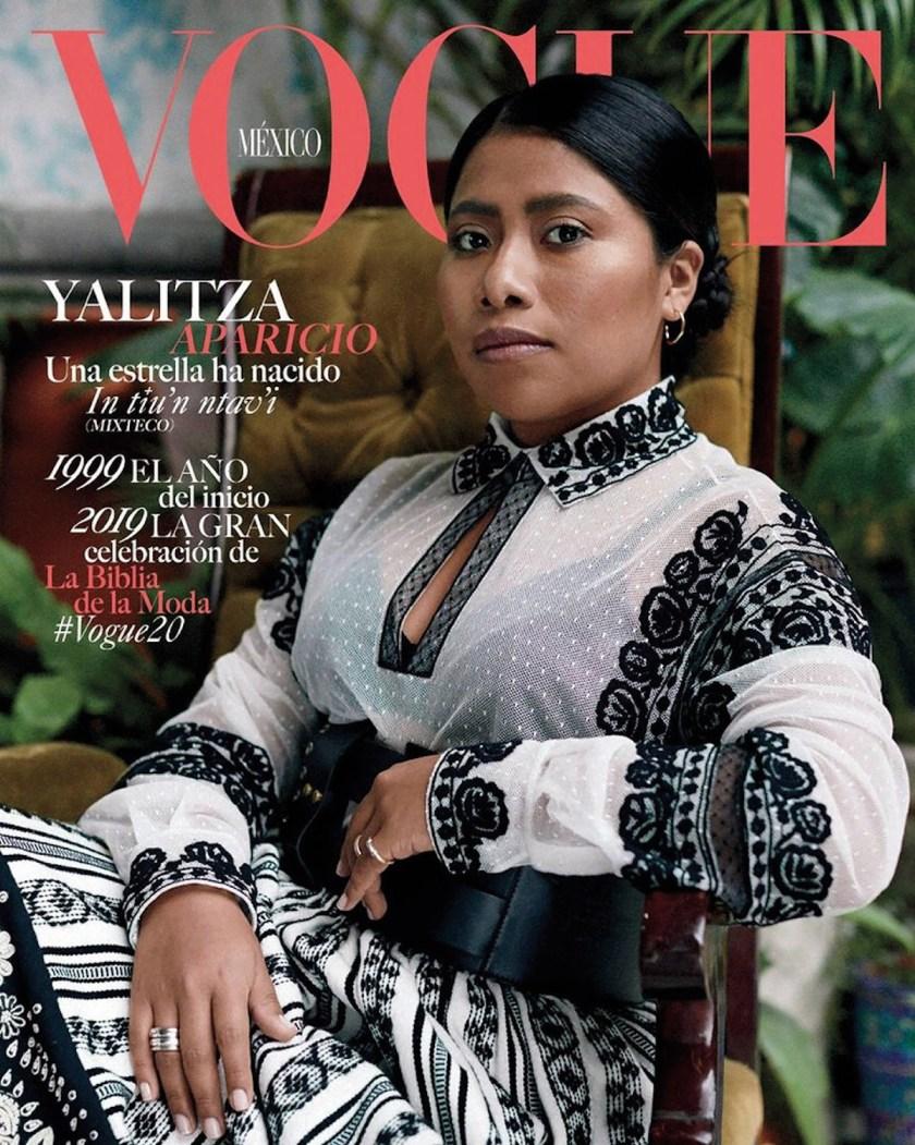 Yalitza Aparicio (portada de Vogue). Halima Aden (portada de Vogue, diferentes versiones idiomáticas).