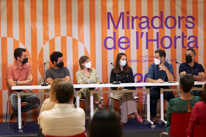 Miradors de l'Horta, que aúna diseño, cultura y sostenibilidad para promover la reflexión sobre el futuro de la huerta y la convivencia entre espacios agrícolas y urbanos.