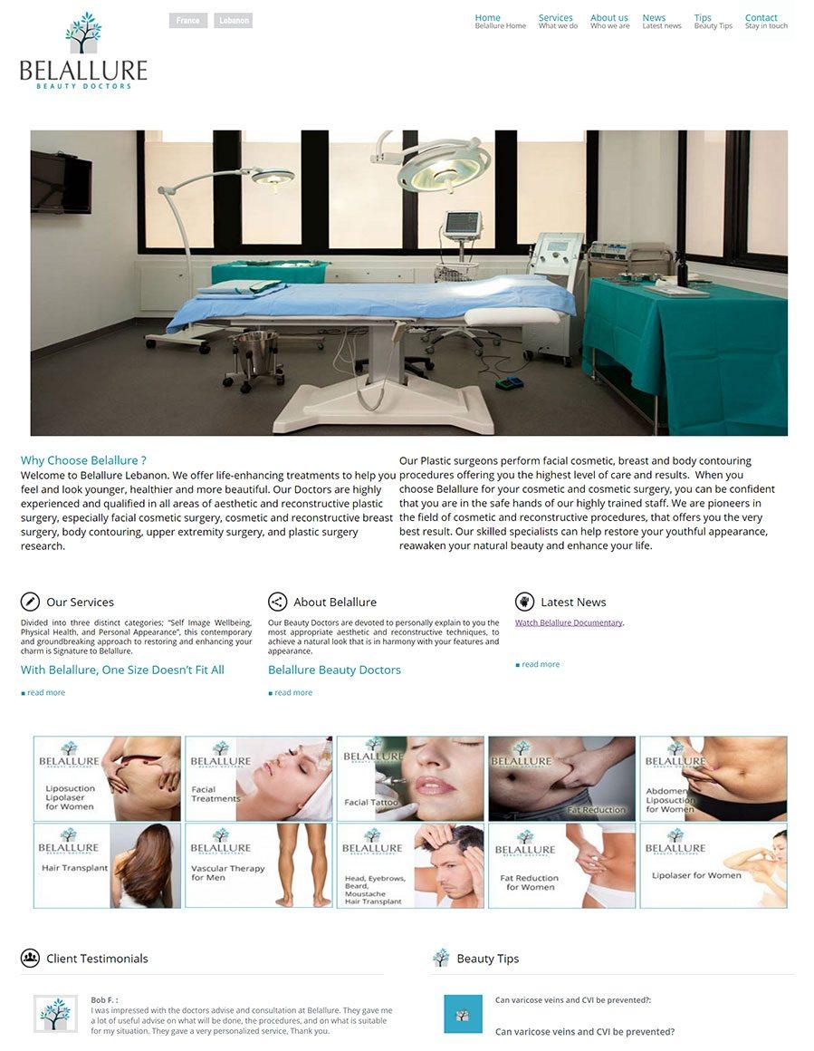 Belallure-Beauty-doctors-Home-page