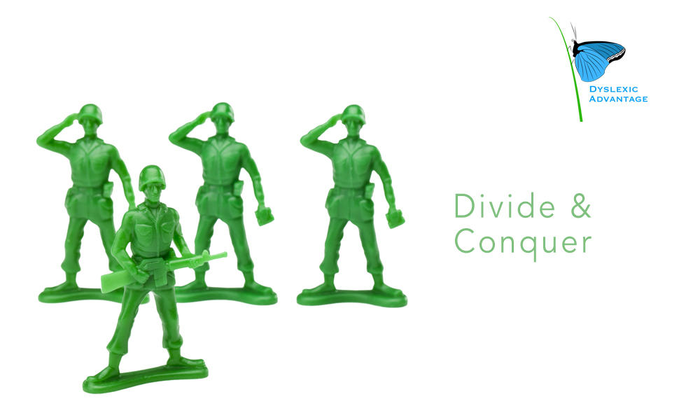 Divide and conquer problem solving strategies
