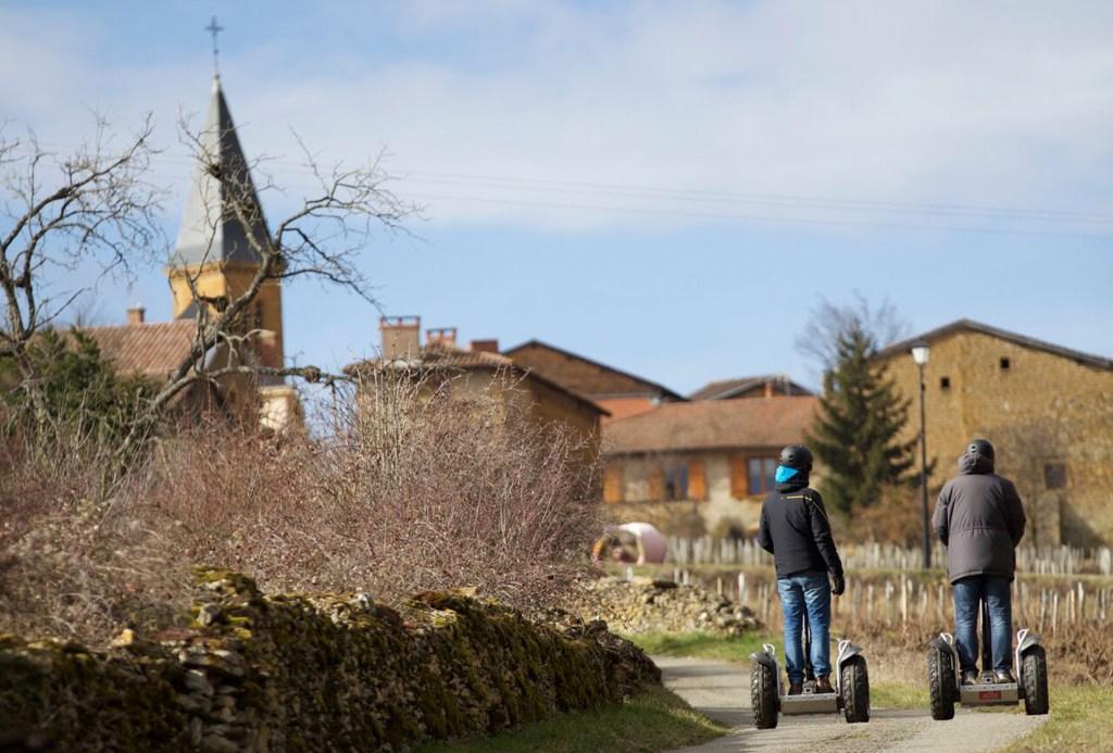 Evénement d'entreprise : Chemin de vigne dans le Beaujolais
