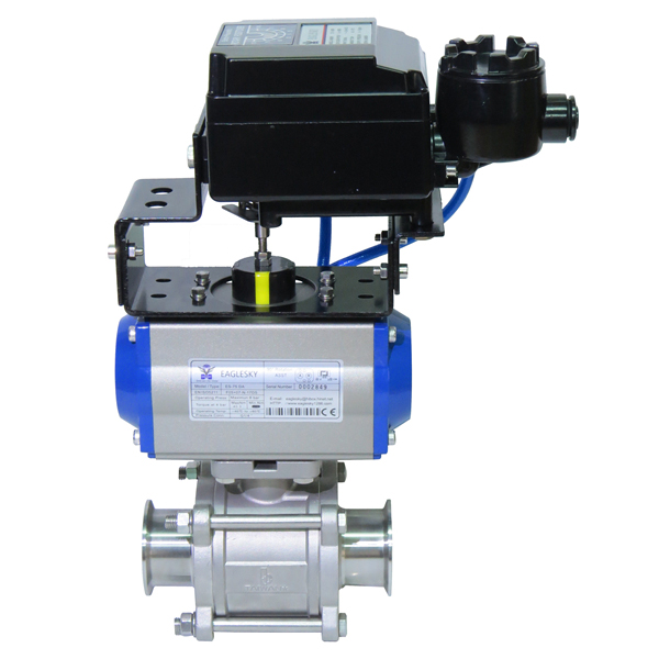 Rotary-automatic-pneumatic-actuator-4-20mA-positioner-stainless-steel-socket-ball-valve-1