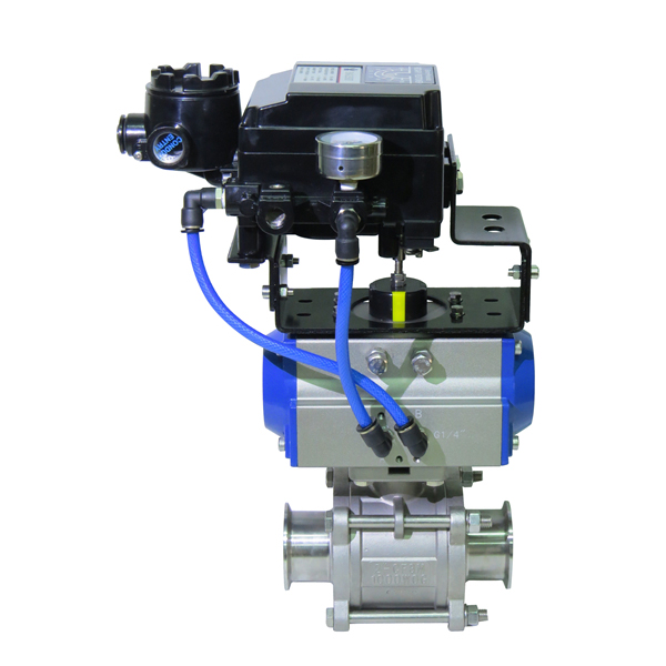 Rotary-automatic-pneumatic-actuator-4-20mA-positioner-stainless-steel-socket-ball-valve-2