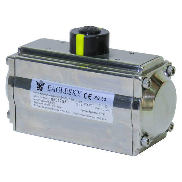 Rotary-automatic-stainless-steel-SS316-pneumatic-actuator-2