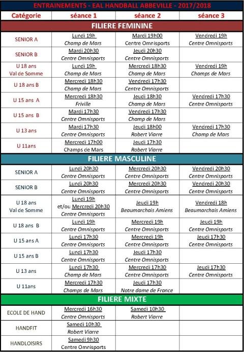 CRENEAUX ENTRAINEMENTS au 31 08 2017