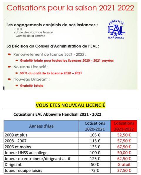 différents Tarifs-licences-2021-2022