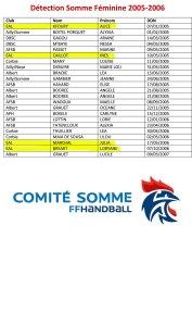 Détection-Somme-Féminine-2005-2006