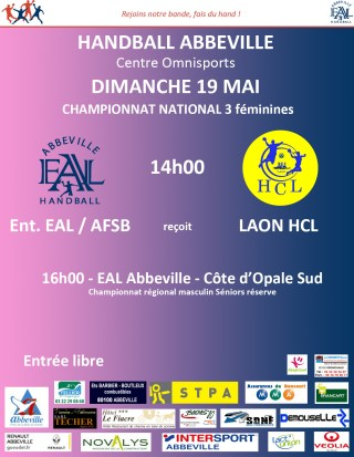 affiche handball abbeville 19 mai