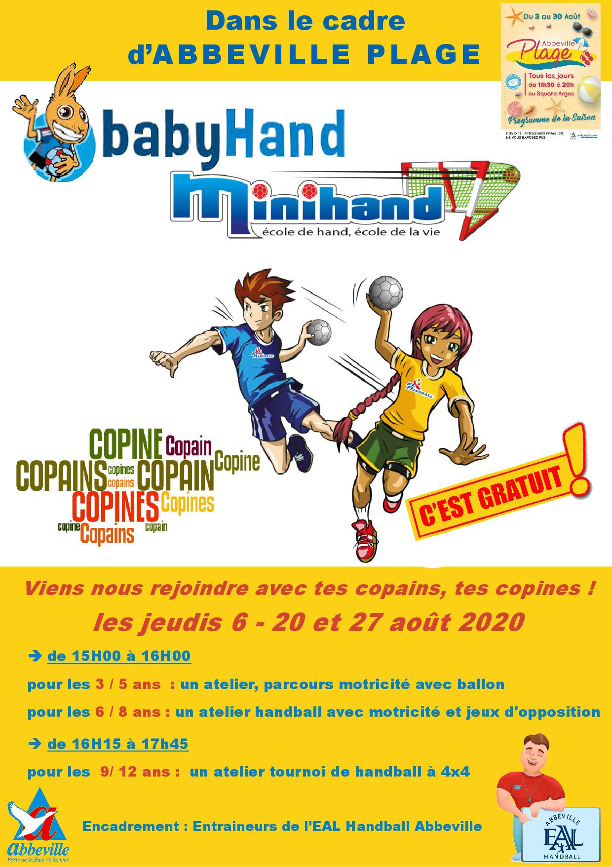 EAL Handball Abbeville_animations HB Abbeville plage
