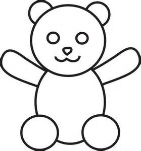 Simple Teddy Bears to colour, stitch, collage or draw