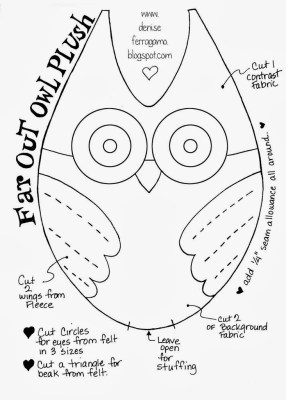 cut and make a felt owl