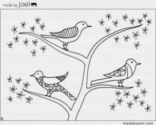 free Bird coloring sheet