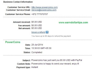 powercoins payment proof