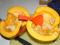 pumpkin sliced in half