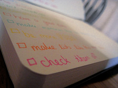 list of tasks to check off