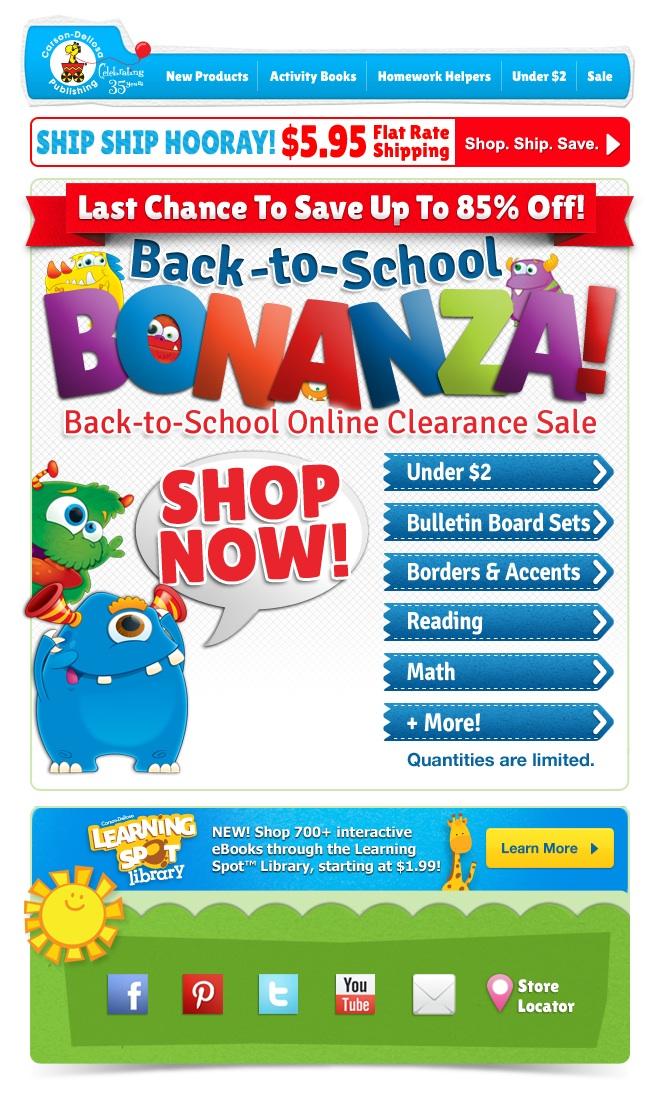 CarsonDellosa Back To School Clearance