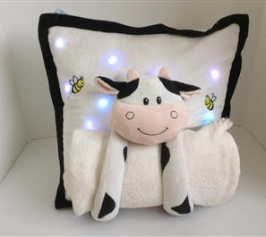 Juzt4kids.com lullaby light up pillow: cuddly cow