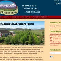 Ela Family Farms - Featured great drop-down menus, multiple blog feeds and integrated e-commerce. www.elafamilyfarms.com