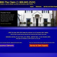 1800 The Claim - these folks know insurance and they needed a simple tool to get their detailed message across. Thanks to WordPress, adding content and forms was easy - 1800theclaim.com