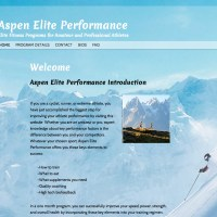 A simple site created from a brochure template to highlight this program's features. Built  on the base 2011 WordPress template, this site inherits its responsive design - resizing automatically to fit an ipad, or smartphone screen. AspenElitePerformance.com