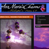 Set up this site and helped integrate simple shopping cart; Customer design - AnnMarie'sCharms