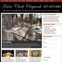 kevinclarkoriginals.com - Site showcases KCO's amazing hand crafted pieces, and is designed to help optimize the site performance.  kevinclarkoriginals.com