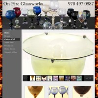 On Fire Glass Works - onfireglassworks.com, customized wordpress site - client uploads content.onfireglassworks.com
