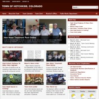 Town of Hotchkiss  - a customized wordpress site with feeds edited by multiple town staff members. townofhotchkiss.com