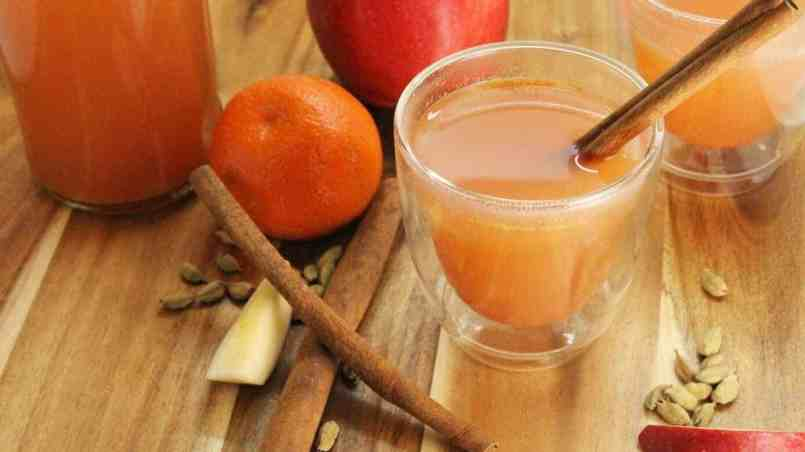 A warm spiced up apple cider, perfect to relax with on a cool fall day.