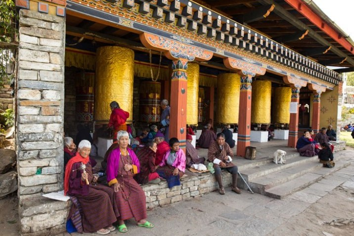 Giant prayer wheels