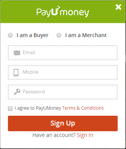 payumoney create account