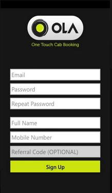 ola cab signup process (1)