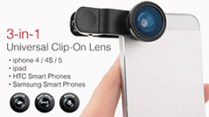 3 in 1 Universal Mobile Clip lens