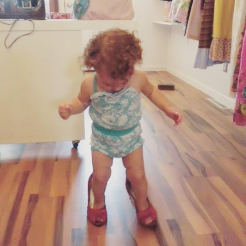 Eloise grew up in my maker world, so she was playing shop before she could walk.