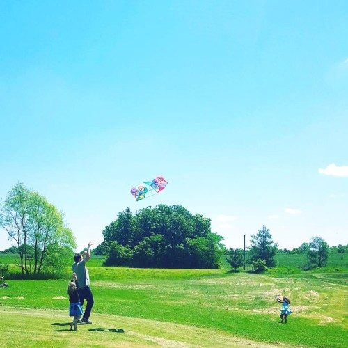 I want to spend more time flying kites with friends.