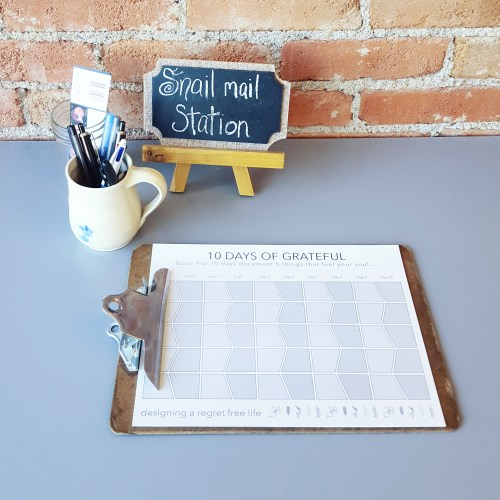 This isn't just for show! Ashley wants visitors to linger and write letters.