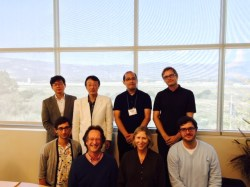 UCSB Participants and Workshop Leaders Top Row, Left to Right: Professor Ogawa Yasuhiko, Professor Nakajima Takashi, Professor Unno Keisuke, Professor Michael Emmerich Bottom Row, Left to Right: UCSB Graduate Student Travis Seifman, UCSB Professor Luke Roberts, UCSB Professor Katherine Saltzman-Li, UCSB Graduate Student Christoph Reichenbaecher