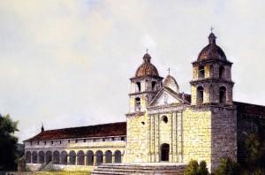 """""""Mission Santa Barbara"""" Edwin Deakin - circa 1899"""