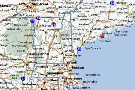 ecr new england map