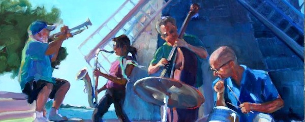 Last year's Sag Harbor American Music Festival, as envisioned by painter Maryann Lucas