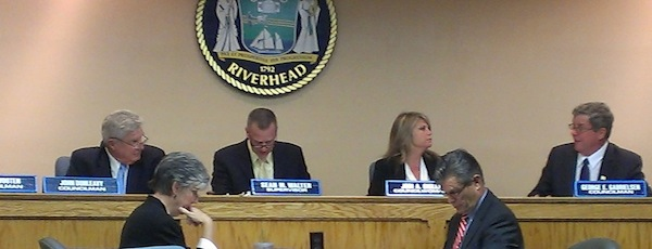 The Riverhead Town Board in the fall of 2014.
