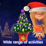 screen shot of christmas with corabelle